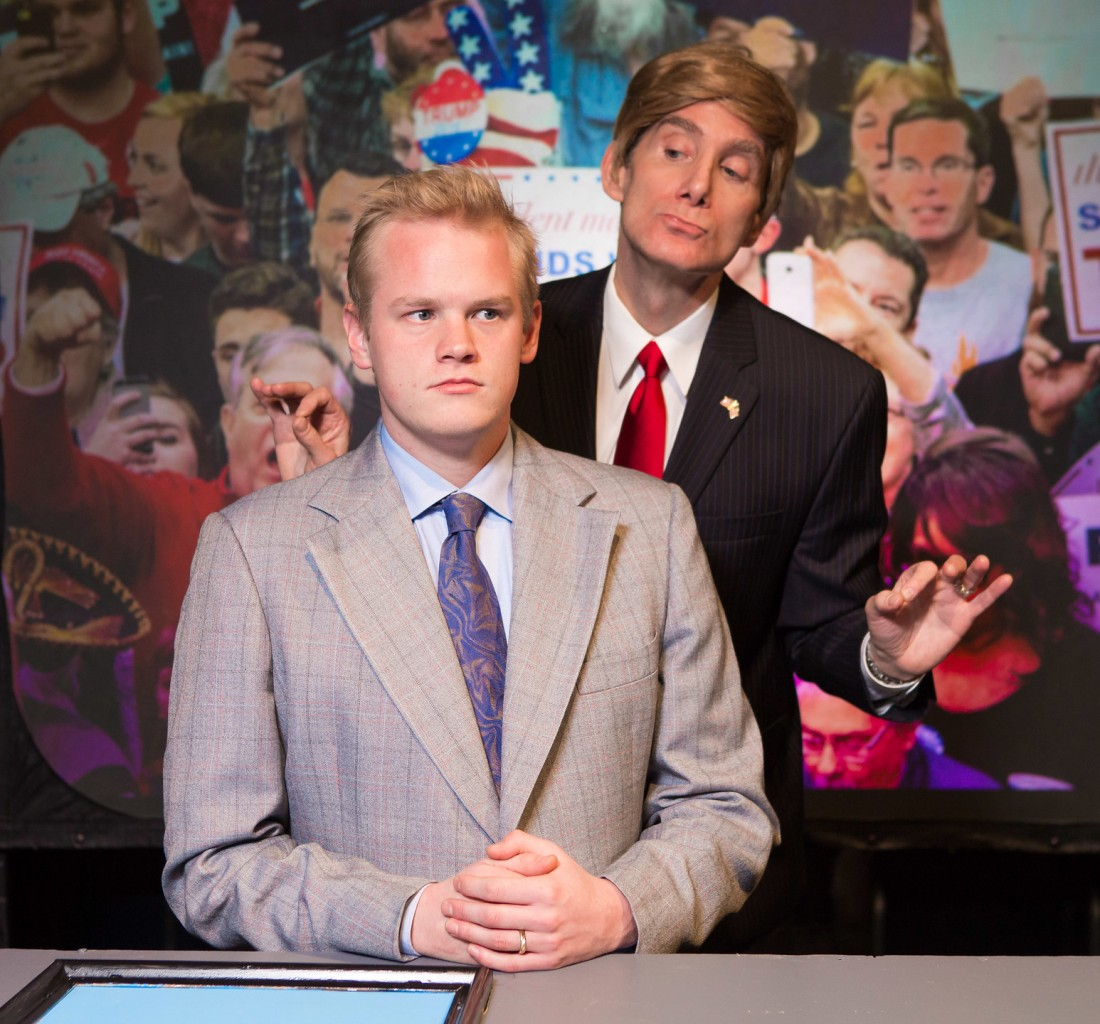 americasfavoritenewscaster_Evan and President